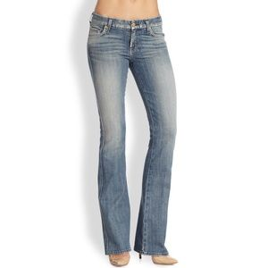 7FAM Kimmie Bootcut Distressed Light Wash Jeans 28